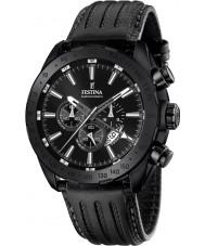 Festina F16902-1 Mens Prestige schwarzes Leder Chronograph