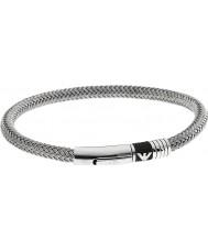 Emporio Armani EGS1623040 Mens Unterschrift Gummieinlage 2 Silber Stahlarmband