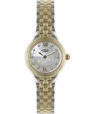 Rotary LB02761-41 Damen Uhren Silber und Gold Uhr