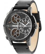 Police 14699JSB-02 Mens Klapperschlange schwarzes Lederband Uhr