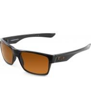 Oakley Oo9189-03 Twoface poliert schwarz - dunkle Sonnenbrille Bronze