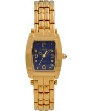 Krug-Baumen 1964DLG Tuxedo Gold 4 Diamant blaues Zifferblatt Gold Band