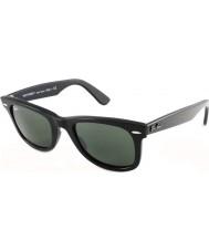 RayBan RB2140 50 Original Wayfarer schwarz grün 901 Sonnenbrille