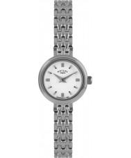 Rotary LB02086-02 Damen Uhren Silber Stahl-Uhr