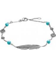 Thomas Sabo A1477-646-17-L19-5v Damen Silber Dreamcatcher Ethno Feder Armband