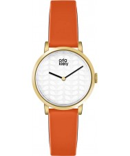 Orla Kiely OK2114 Damen luna Orange Lederband Uhr