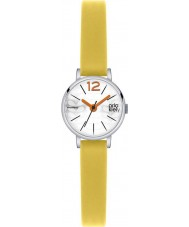 Orla Kiely OK2007 Damen frankie gelb Lederband Uhr