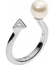 Emporio Armani EG3288040-6.5 Damen deco Perlen Sterling Silber Ring - Größe m.5