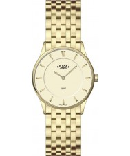 Rotary LB08203-03 Damen ultra dünne Champagner goldene Uhr