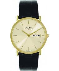 Rotary GS02624-03-DD Mens vergoldete Champagner Uhr