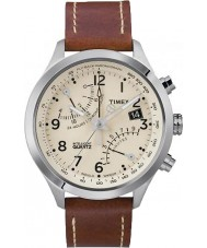 Timex T2N932 Mens Creme braun Flyback-Chronograph