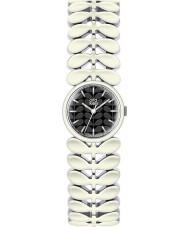 Orla Kiely OK4028 Damen Lorbeer weiß Stahl-Armbanduhr