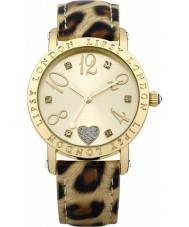 Lipsy LP124 Damen Gold und animal print Uhr
