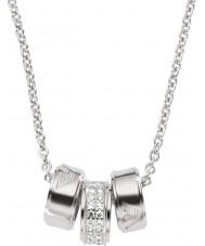 Emporio Armani EG3046040 Damen Unterschrift silberne Halskette mit Silber rolo Kette
