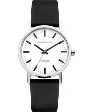 Danish Design Q12Q199 Mens schwarzes Lederband Uhr
