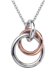 Hot Diamonds DP373 Damen Ewigkeit Silber und Rose Gold Vermeil Anhänger