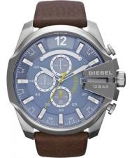 Diesel DZ4281 Mens mega Chef blau braun Chronograph