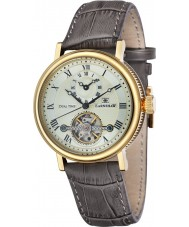 Thomas Earnshaw ES-8047-03 Mens beaufort braun Crock Lederband Uhr