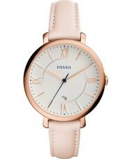 Fossil ES3988 Damen jacqueline Licht Röte Lederband Uhr