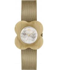 Orla Kiely OK4032 Damen Mohn Horn Fall Gold Milanaisearmband Uhr