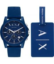 Armani Exchange AX7107 Herren Sportuhr Geschenkset
