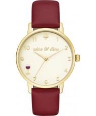 Kate Spade New York KSW1188 Damen U-Bahn-Burgunder Lederband Uhr