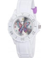 Tikkers TK0052 Mädchen white glitter butterfly Uhr