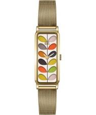 Orla Kiely OK4034 Damen Stamm Druck Gold Mesh-Armbanduhr