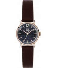 Orla Kiely OK2014 Damen frankie dunkelbraun Lederband Uhr