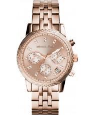 Michael Kors MK6077 Damen ritz rosé vergoldet Chronograph