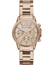 Armani Exchange AX4326 Damen Kleid rosé vergoldet Chronograph