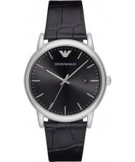 Emporio Armani AR2500 Mens Kleid schwarzes Lederband Uhr