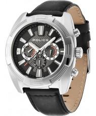 Police 13938JS-02 Mens Revolte Cronograph schwarzes Leder Uhr