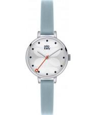 Orla Kiely OK2015 Damen Efeu Himmel blau Lederband Uhr