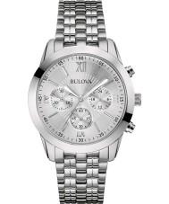 Bulova 96A163 Mens kleiden Silber Stahlarmband Chronograph