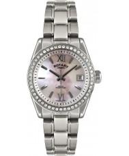 Rotary LB02660-07 Damen Timepieces havanna silberne Uhr