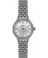 Rotary LB02866-06 Damen Uhren Stein Silber Stahl-Uhr eingestellt