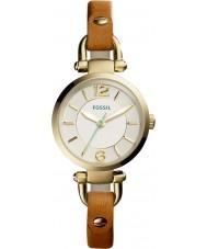 Fossil ES4000 Damen Georgia dunkelbraun Lederband Uhr