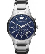 Emporio Armani AR2448 Mens klassische Chronograph blau silberne Uhr