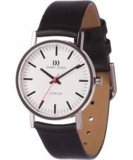Danish Design V12Q199 Damen schwarzes Lederband Uhr