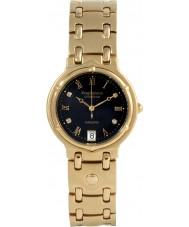 Krug-Baumen 5118DM Charleston 4 Diamant-schwarzes Zifferblatt Gold Band