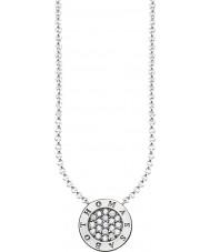 Thomas Sabo KE1493-051-14-L45v Damen Silber Unterschrift klassischen Zirkonia-Pavé Halskette