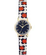 Orla Kiely OK4040 Damen Blume Pop rot, weiß, blau expandierenden Armbanduhr