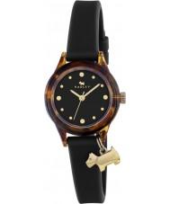 Radley RY2324 Damenuhr es! schwarzem Armband Uhr mit Gold-Highlights