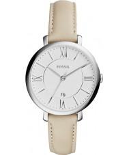 Fossil ES3793 Damen jacqueline Creme Lederband Uhr