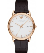 Emporio Armani AR2502 Mens klassische dunkelbraune Lederband Uhr