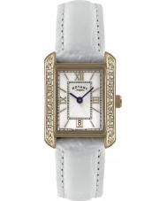 Rotary LS02652-41 Damen Uhren weißes Lederband Uhr