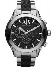 Armani Exchange AX1214 Herren schwarz Silber Chronograph Sportuhr