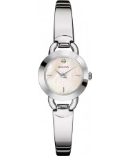 Bulova 96P154 Damen Diamanten Silber Stahl Armbanduhr