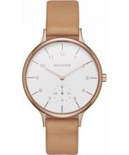 Skagen SKW2405 Damen ANITA braunes Lederband Uhr
